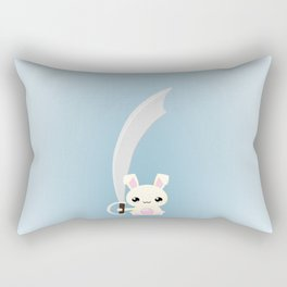Kawaii Bunny Rectangular Pillow