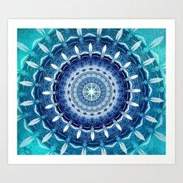Absolute Zero Mandala Art Print