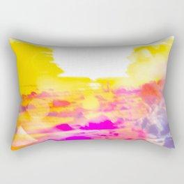 summer sunset at the beach with summer bokeh light abstract Rectangular Pillow