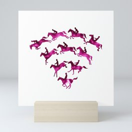 Connected to Showjumping (Magenta) Mini Art Print