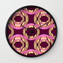 spheres pattern Wall Clock