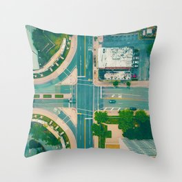 The City From Above (Color) Throw Pillow