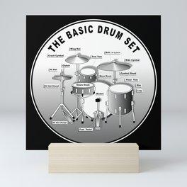 The Basic Drum Set Mini Art Print