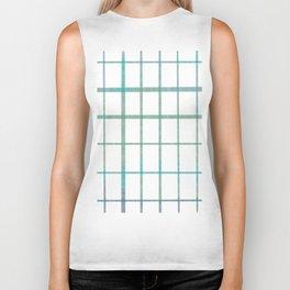 Green grid minimalist pattern Biker Tank