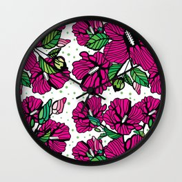 The rose of sharon Wall Clock