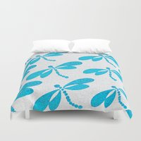 dragonfly Duvet Covers featuring Dragonfly  by Saundra Myles