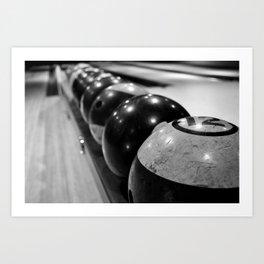 Vintage Bowling Balls Art Print
