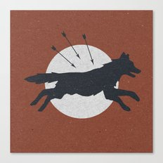 Wolf & Arrow Canvas Print