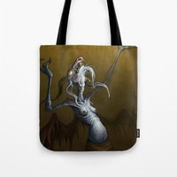 baphomet Tote Bags featuring Baphomet by Ejay Basford