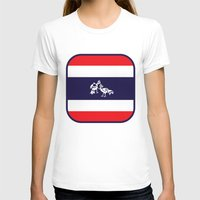 thailand T-shirts featuring Thailand Flag, Roosters Sparring by mailboxdisco