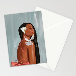 Girl in a bow Stationery Cards