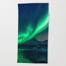 Aurora Borealis (Northern Lights) Beach Towel
