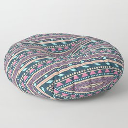 Colorful Aztec Tribal Pattern Floor Pillow