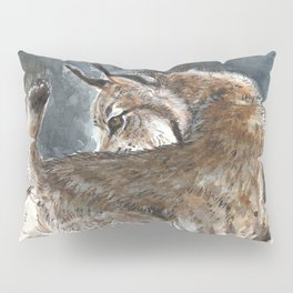 Canadian Lynx in Winter Pillow Sham