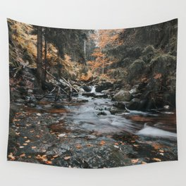 Autumn Creek - Landscape and Nature Photography Wall Tapestry