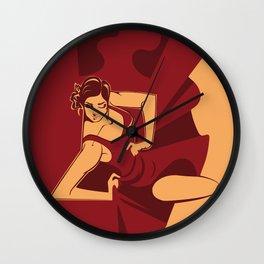 Dynamic  flamenco dancer Wall Clock