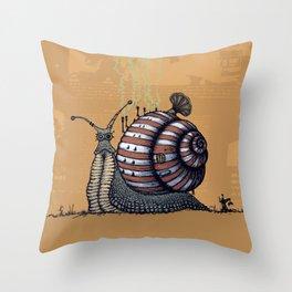 Snail level 2 Throw Pillow