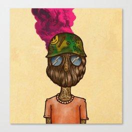 Beard Mask Canvas Print