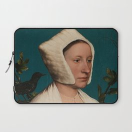 PORTRAIT OF A LADY WITH A SQUIRREL AND A STARLING - HANS HOLBEIN Laptop Sleeve