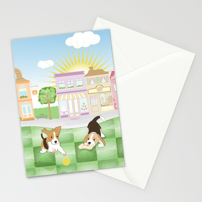 Beagles Stationery Cards
