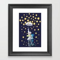 DMMd :: The stars are falling Framed Art Print