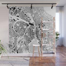 Zurich building city map Wall Mural