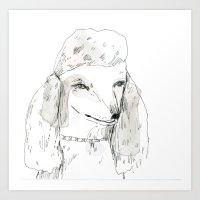 poodle Art Prints featuring Poodle by Elizabeth Graeber