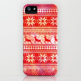 Reindeer Sweater Color Option iPhone Case