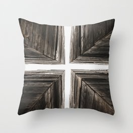 Between the Crates Throw Pillow
