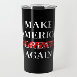 MAKE AMERICA DEGRADED AGAIN - RED/BLACK Travel Mug