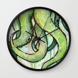 Cthulhu Green Tentacles Wall Clock