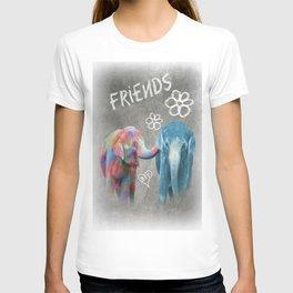 Colorful Elephant Friends T-shirt