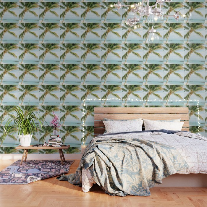 Tropical Palm Tree Wallpaper By Newburydesigns