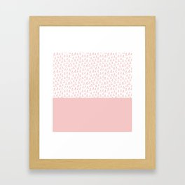 Triangles Pink Framed Art Print