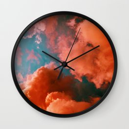 The Pink Clouds (Color) Wall Clock