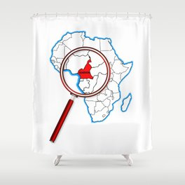 Cameroon Under A Magnifying Glass Shower Curtain