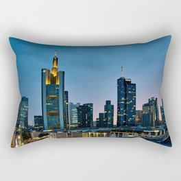 Frankfurt By Night Rectangular Pillow