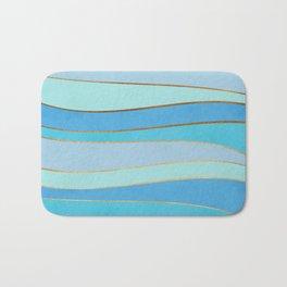 Waves Pattern - Golden Glitter Bath Mat