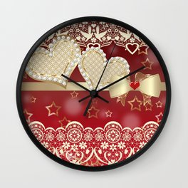 Pearl of the heart. For loved ones . Wall Clock