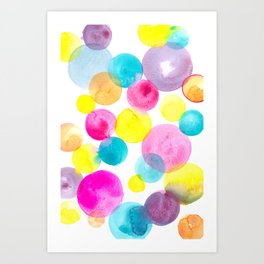 Confetti paint Art Print