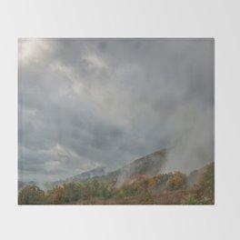 Dolly Sods Mountain Fog Throw Blanket