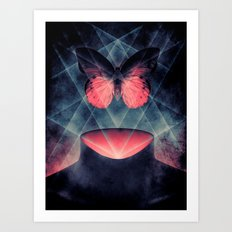 Beautiful Symmetry Butterfly Art Print