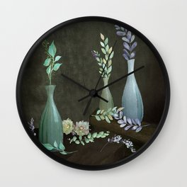 The Gracefulness of Leaves Wall Clock