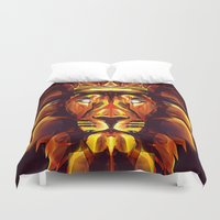 the lion king Duvet Covers featuring Lion King by Mart Biemans