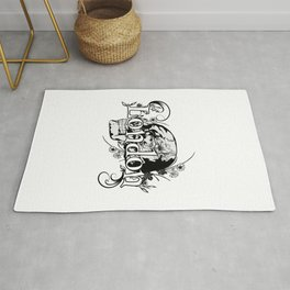 London,skull logo design Rug