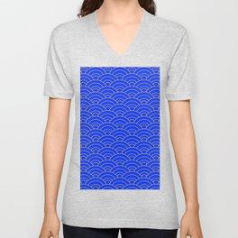 Japanese Wave Pattern  Unisex V-Neck