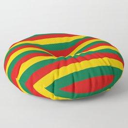 lithuania benin burkina faso flag stripes Floor Pillow