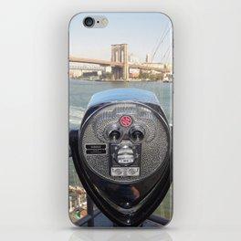 Watching you, Brooklyn Bridge iPhone Skin