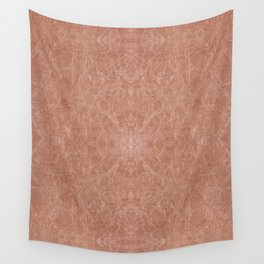 Brown canvas cloth texture abstract Wall Tapestry