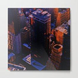 New York City // Retro 20 Metal Print